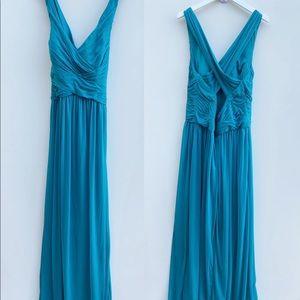 David's Bridal | Teal Maxi Gown Dress 14